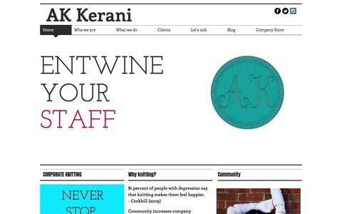 Screenshot of Home Page akkerani.com - akkerani - captured May 28, 2017