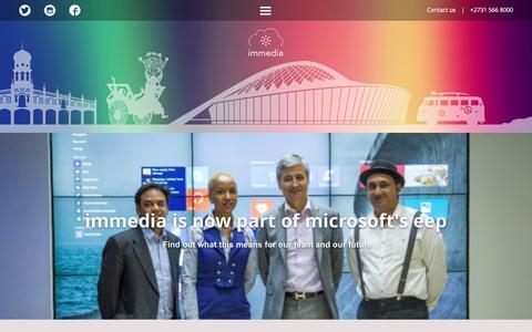Screenshot of Home Page immedia.co.za - the immedia ecosystem - captured Jan. 9, 2016