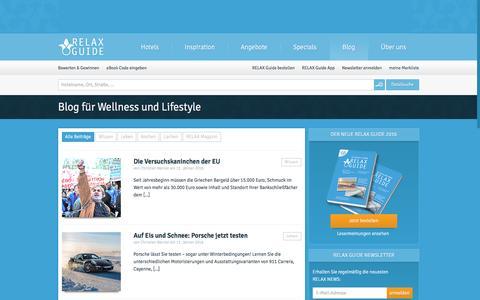 Screenshot of Blog relax-guide.com - Wellnessblog   RELAX Guide Hotelbewertung - captured Jan. 19, 2016