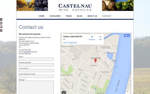 Screenshot of Contact Page castelnau.co.uk - Castelnau Wine Agencies | Find us - captured Oct. 2, 2014