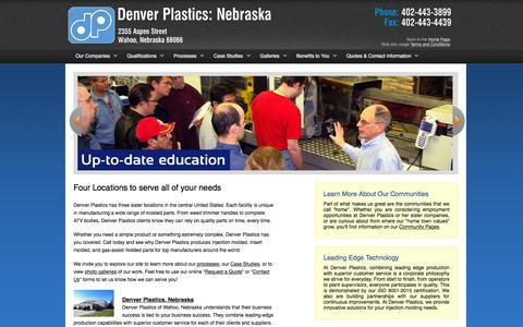 Screenshot of Locations Page denverplastics.com - Denver Plastics: 4 Locations to Serve You - captured Aug. 6, 2018