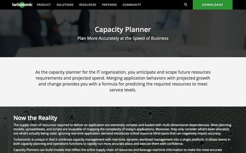 Capacity Planner Solutions from Turbonomic (formerly VMTurbo)