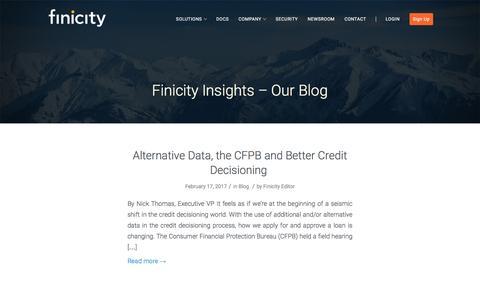 Blog - Finicity