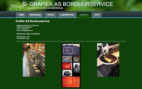 Screenshot of Contact Page grafiekas.nl - Grafiek AS Borduurservice - Grafiek AS Borduurservice - captured July 23, 2018