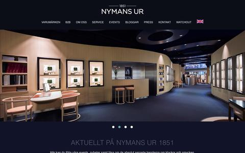 Screenshot of Home Page nymansur.com - Klocka - Exklusiva klockor & armbandsur - Märkesklockor | Nymans Ur - captured Nov. 13, 2015