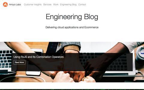Screenshot of Blog arroyolabs.com - Engineering Blog   Arroyo Labs - captured July 30, 2018