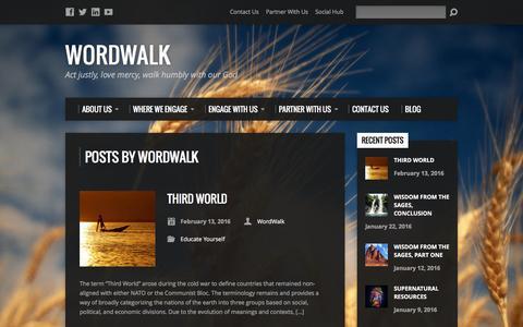 Screenshot of Blog wordwalk.us - WordWalk, Author at WordWalk - captured Feb. 15, 2016