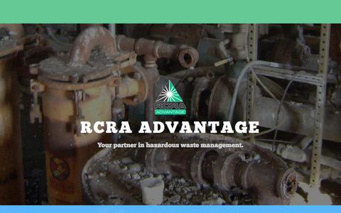 Screenshot of About Page rcra-advantage.com - About Us – RCRA Advantage - captured June 18, 2017