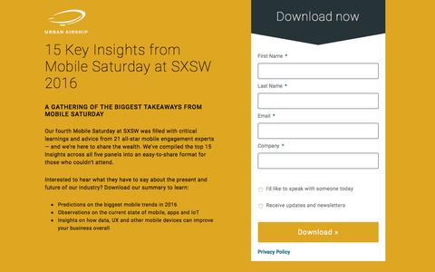 15 Key Insights from Mobile Saturday at SXSW 2016