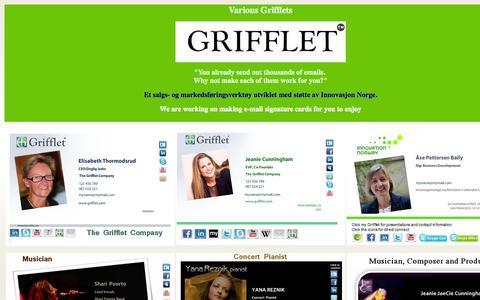 Screenshot of Home Page grifflet.com captured Oct. 6, 2014