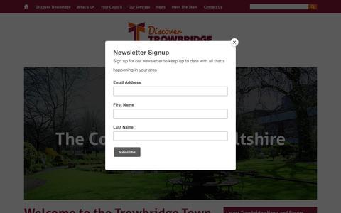 Screenshot of Home Page trowbridge.gov.uk - Trowbridge, The County Town of Wiltshire - captured Oct. 20, 2018