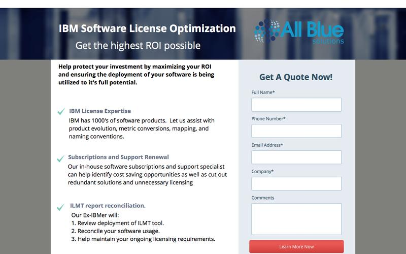 IBM License Optimization