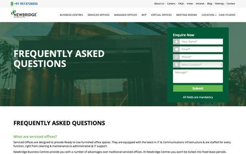 Screenshot of FAQ Page newbridgeoffices.com - FREQUENTLY ASKED QUESTIONS | NewBridge - captured Oct. 1, 2018
