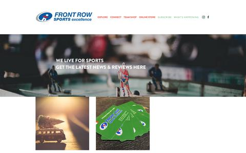 Screenshot of Blog frontrowsport.com - Blog — Front Row Sports Excellence - captured Dec. 19, 2018
