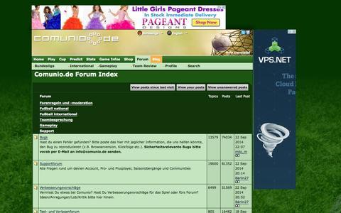 Screenshot of Support Page comunio.de - Comunio.de Forum Index - captured Sept. 18, 2014