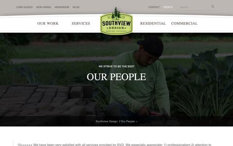 Screenshot of Team Page southviewdesign.com - Southview Design professional landscaping team in Minneapolis St. Paul - captured Nov. 13, 2018