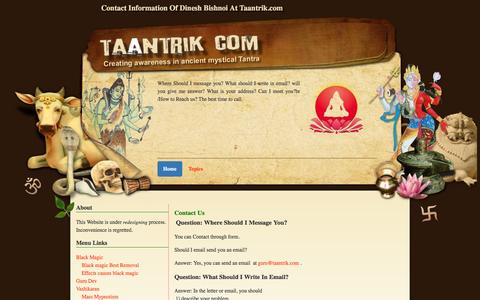 Screenshot of Contact Page taantrik.com - Contact us - captured Dec. 23, 2016