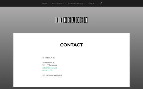 Screenshot of Contact Page ithelden.nl - Contact - IT HELDEN - captured July 13, 2018