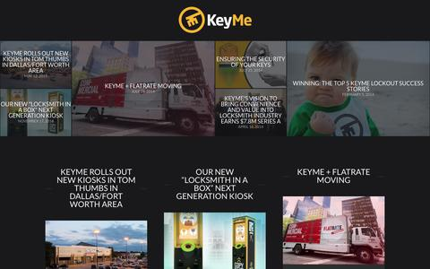 Screenshot of Blog key.me - KeyMe Blog | news, events, products, and behind-the-scenes info from KeyMe - captured Oct. 2, 2015