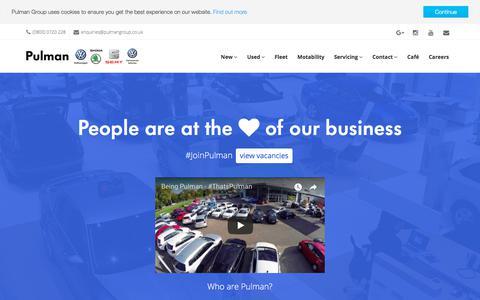 Screenshot of Jobs Page pulmangroup.co.uk - Pulman Group | Careers - captured Dec. 16, 2017