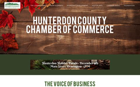 Screenshot of Home Page Site Map Page hunterdon-chamber.org - HUNTERDON COUNTY CHAMBER OF COMMERCE - Hunterdon County Chamber of Commerce | Flemington, NJ 08822 - captured Nov. 27, 2018