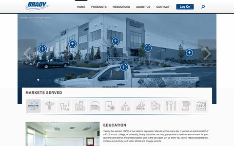 Screenshot of Home Page bradyindustries.com - Brady Industries | Janitorial Supplies and Equipment - captured Oct. 5, 2014