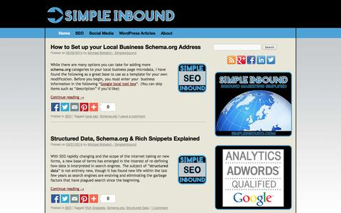 SimpleInbound SEO | Michael Bohatch | Inbound Marketing Techniques | Tutorials on SEO, Social Media, Wordpress & Online Marketing