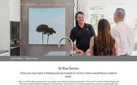 Screenshot of Support Page polyhomes.com - Customer Service | An In-House Team That Cares - captured Sept. 28, 2018