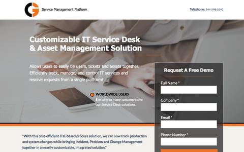 Screenshot of Landing Page kohosoftware.net - CG Enterprise Service Desk Software - captured Aug. 17, 2016