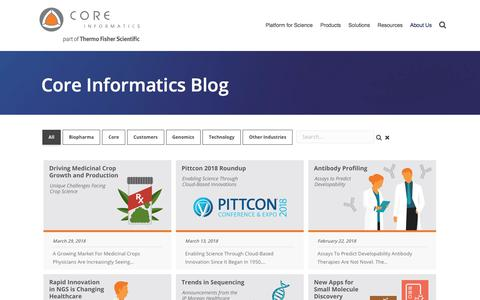 Screenshot of Blog coreinformatics.com - Core Informatics Blog - Coreinformatics.com - captured April 3, 2018