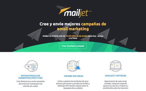 Screenshot of Landing Page mailjet.com - Cree y envíe mejores campañas de email marketing - captured Nov. 20, 2016