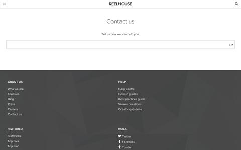Screenshot of Contact Page reelhouse.org - Contact   Reelhouse - captured May 21, 2017