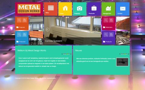 Screenshot of Home Page metaldesignworks.nl - Metal Design Works - Home - captured Jan. 27, 2016