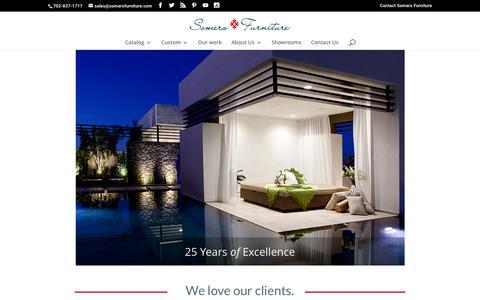 Screenshot of Home Page somersfurniture.com - Outdoor Furniture, Luxury Outdoor Furniture, Custom & Restaurant Furniture, Wedding Furniture Rental - captured Jan. 13, 2016