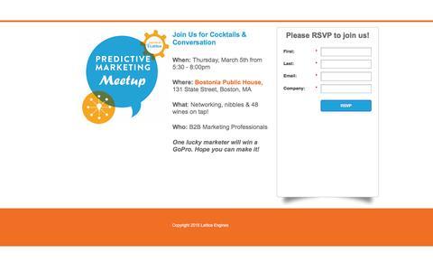 Screenshot of Landing Page lattice-engines.com - Boston Predictive Marketing Meetup - captured March 21, 2016