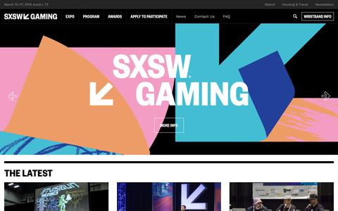 SXSW Gaming Festival | March 15 - 18, 2018
