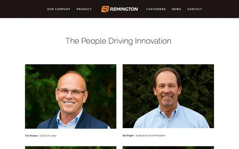 Screenshot of About Page remingtonind.com - About — Remington Industries - captured Oct. 21, 2017