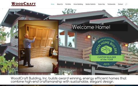 Screenshot of Menu Page woodcraftinc.com - WoodCraft Building | Custom Home Building, Design and Remodeling in Bend, Oregon - captured Feb. 15, 2016