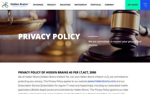 Privacy Statement of Hidden brains