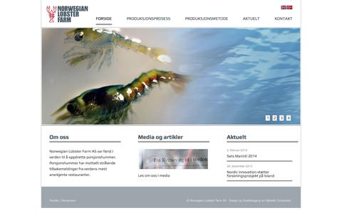 Screenshot of Home Page norwegian-lobster-farm.com - Norwegian Lobster Farm | - captured Oct. 9, 2014