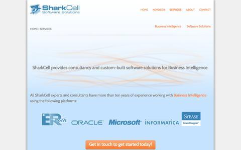 Screenshot of Services Page sharkcell.dk captured Sept. 30, 2014