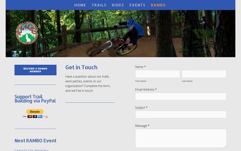 Screenshot of Contact Page rambo-mtb.org - Contact — Roswell-Alpharetta Mountain Bike Organization - captured Nov. 15, 2018