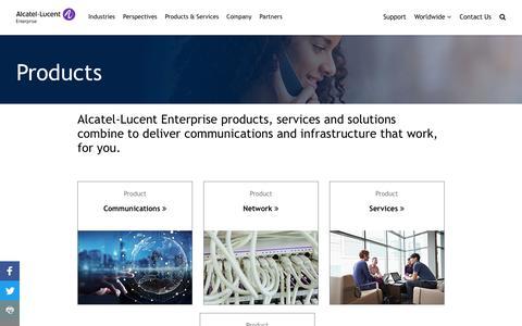 Screenshot of Products Page al-enterprise.com - Product Directory | Alcatel-Lucent Enterprise - captured Sept. 20, 2019