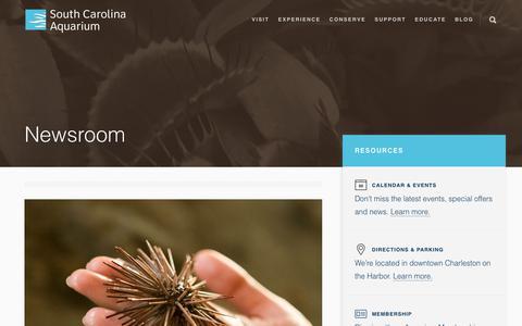 Screenshot of Press Page scaquarium.org - Newsroom - South Carolina Aquarium - captured Dec. 16, 2018