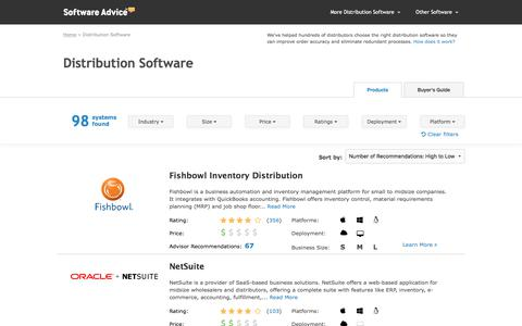 Top Distribution Software - 2017 Reviews, Pricing & Demos