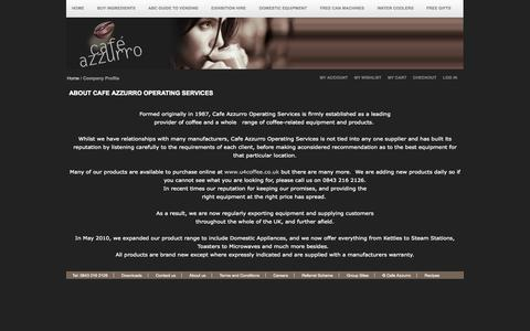 Screenshot of About Page cafe-azzurro.net - Company Profile - captured Sept. 26, 2014