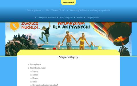 Screenshot of Site Map Page zwalcznude.eu - Zwalcznude.pl Krystyna Radkowska - captured March 15, 2016