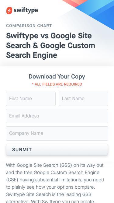 Swiftype vs Google Site Search & Google Custom Search Engine
