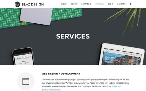 Screenshot of Services Page blazdesign.com - Design Services by Blaz Design | Cleveland, OH Web & Graphic Design - captured June 24, 2017