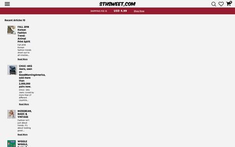 Screenshot of Blog sthsweet.com - Editorial - captured Sept. 23, 2018